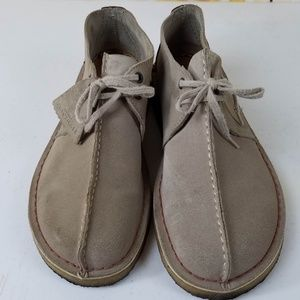 Gray/Brown Clarks Desert Walkers Perfect Cond!